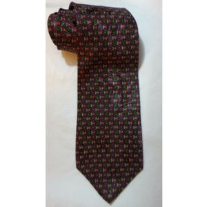 Vintage 80s Woodward 100% Silk Tie 58 Inches